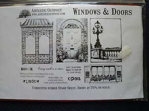 Artistic Outpost Rubber Stamp Set Windows amp Doors new - Newton Abbot, United Kingdom - Artistic Outpost Rubber Stamp Set Windows amp Doors new - Newton Abbot, United Kingdom