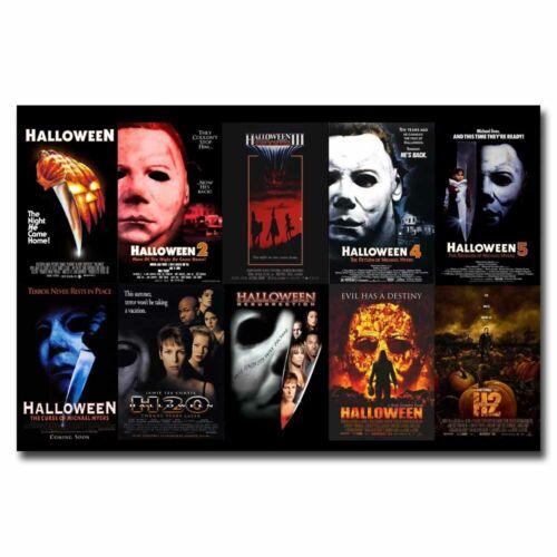Halloween Series 12x18 24x36inch Horror Movie Silk Poster Art Print