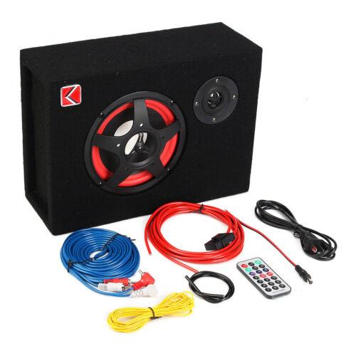 Under-Seat 6/'/' 350W Voiture Active Subwoofer Speaker Stéréo Basse Audio Alimenté
