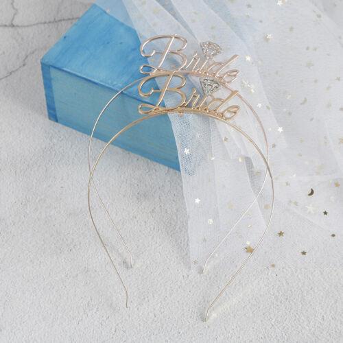 Team Bride Bridesmaid Crown Headband Wedding Bridal Shower Girls Night Gif JD S