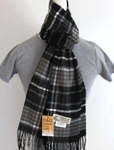 Men/'s Winter Scarf Check Plaid Black Red Cashmere-Feel Soft Warm Unisex