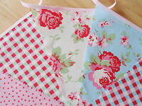 Cath Kidston Fabric Bunting Wedding Party Vintage Decorations Rustic Barn 100ft