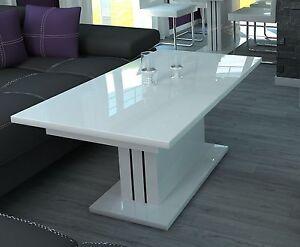 couchtisch ausziehbar wohnzimmer auszugtisch design hochglanz wei g nstig neu ebay. Black Bedroom Furniture Sets. Home Design Ideas