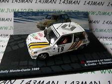 voiture 1/43 IXO Altaya Rallye : RENAULT 5 GT TURBO A Oreille Monte Carlo 1989