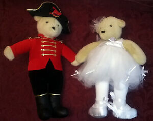 Two-North-American-Teddy-Bear-Co-Vintage-Bears-12-034-Collectible-Costumed