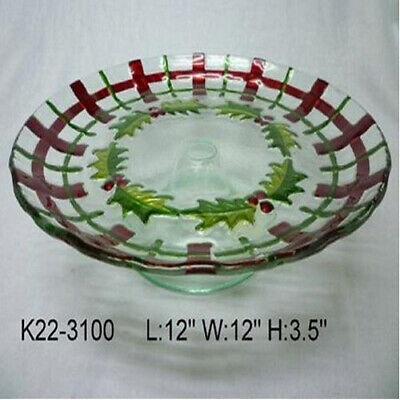 Alzatina In Vetro Agrifogliool97466old & New S.r.l. Merci Di Alta Qualità