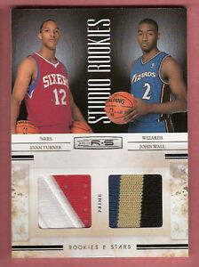 cheap for discount eab40 7d929 Details about JOHN WALL & EVAN TURNER 2 ROOKIE JERSEY PATCH CARD #26/49 UK  KENTUCKY OHIO STATE
