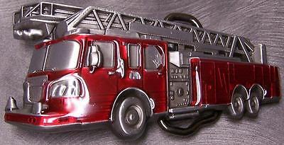 Pewter Belt Buckle Vehicle Fire Department Hook /& Ladder Truck NEW