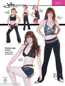 592a5853542f Jalie Yoga Pants & Shorts Sewing Pattern 3022 in 22 Sizes Misses ...