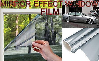 3m- 50cm NEUF ARGENT MIROIR AUTO FILM SOLAIRE TEINTE  PELLICULE VITRES VOITURE!