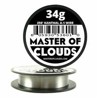 250 ft - 34 Gauge AWG A1 Kanthal Round Wire 0.16mm Resistance A-1 34g GA 250'
