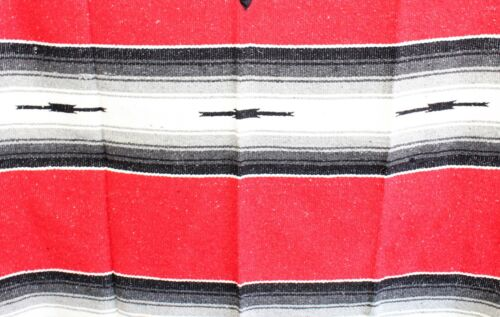 ONE SIZE FITS ALL Gaban BIG AND TALL RED EXTRA WIDE Mexican PONCHO