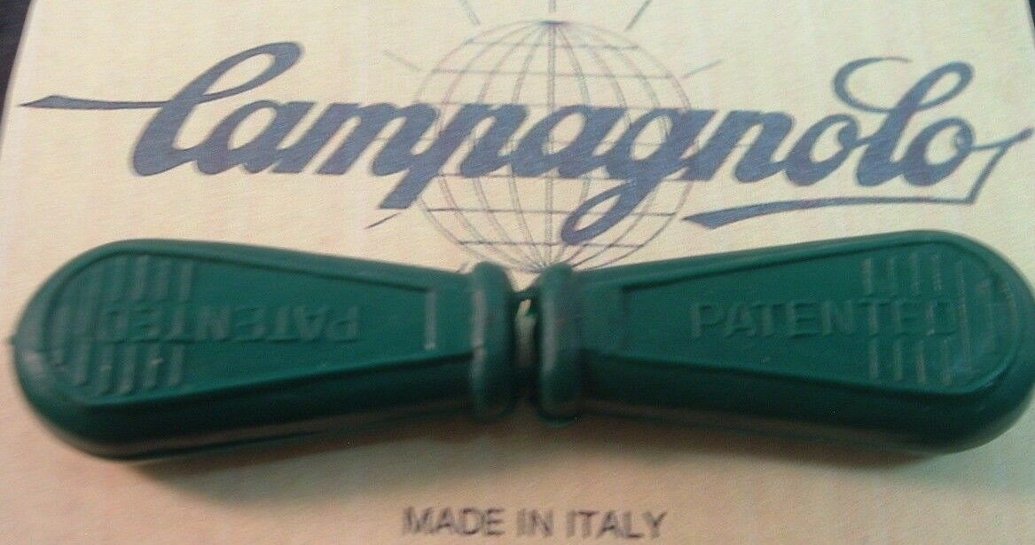 Campagnolo Grün Shifter / QR Covers NEW / NOS Vintage- Unused w/Lip- One Pair