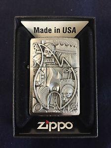 ZIPPO-Lighter-Feuerzeug-Modell-Various-Emblem-Made-in-USA