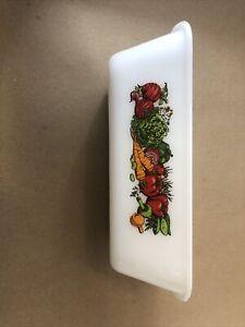 McKee 1.5 Quart Vegetable Medley Loaf Glasbake #J522