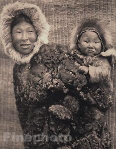 Details about 1905/1972 Original Folio NUNIVAK INDIAN Mother Child Alaska  Photo EDWARD CURTIS