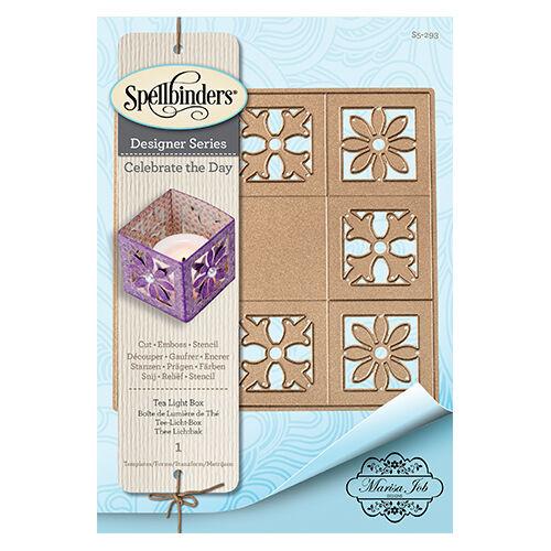 Spellbinders Nestabilities Té Caja de luz S5-293 CORTE RELIEVE plantilla 1 Die