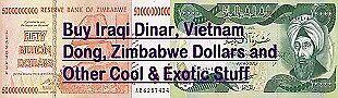 Buy Iraqi Dinar VND and Zim Bonds