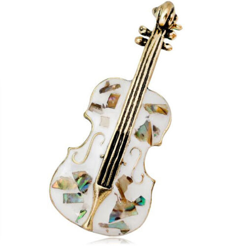 Fashion Cello Guitar Violin Brooches Pin Enamel for Scarf Collar Badge Gifts N7