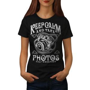 Calm-Photographer-Fashion-Women-T-shirt-NEW-Wellcoda