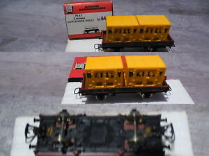 WAGON-MARCHANDISE-PLAT-BAILLY-JOUEF-HO-boite-6450-waggon-coach-vagone