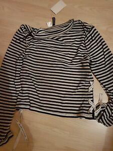 47aa8428c03df Top Oberteil Shirt Gr. M H&M Schwarz weiss Streifen wie Neu mit ...