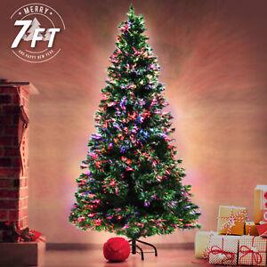 7ft 210cm Fibre Optic LED Xmas Tree - Multi Colour