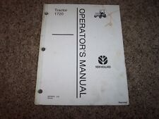 NH New Holland 1720 Tractor Owner Owner's Operator User Guide Manual Original