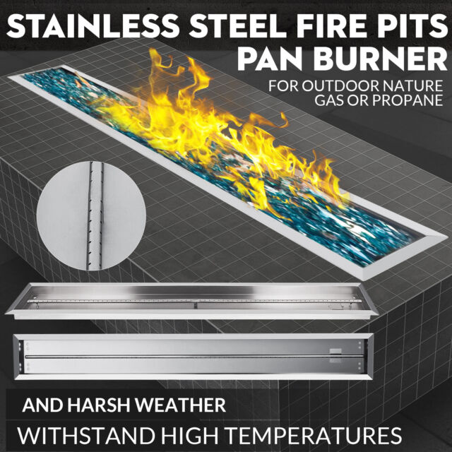 Vevor Stainless Steel Drop-In Fire Pit Pan and Burner,60 By 6-Inch