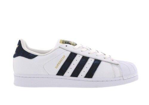 Mens Adidas Superstar Leather Blanc/Bleu s76806 Sizes: UK 6 _ 6.5 _ 7 _ 7.5 _ 8