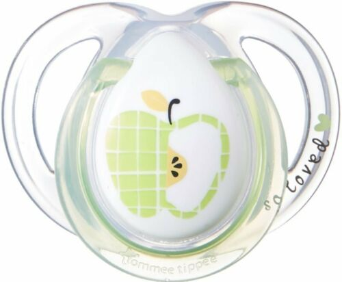 TOMMEE TIPPEE Apple 0-6 month Anytime BPA Free Silicone Orthodontic Baby Soother