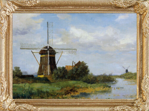 FAST DELIVERY DUTCH WINDMILLS Miniature Dollhouse Picture MADE IN USA