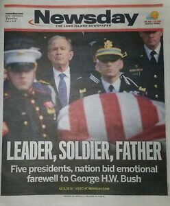 Newsday-Newspaper-December-6-2018-12-6-18-George-H-W-Bush-Funeral