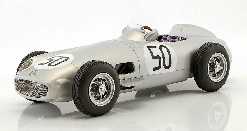 MERCEDES w196 P. TARUFFI 1955 #50 4th British GP 1:18 MODEL I-scale