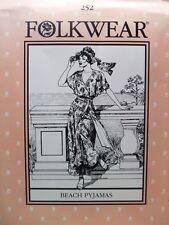 Folkwear 252 Beach Pyjamas Resort Wear 1920s 1930s Sewing Costume Pattern