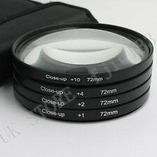 72MM Close Up Macro Lens Kit +1 +2 +4 +10 for DSLR SLR Digital Camera
