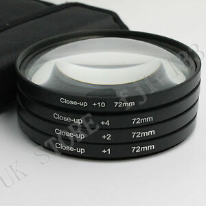 72mm-Macro-Close-Up-1-2-4-10-Lens-Filter-Set-Fit-For-Nikon-Canon-Clean-Cloth