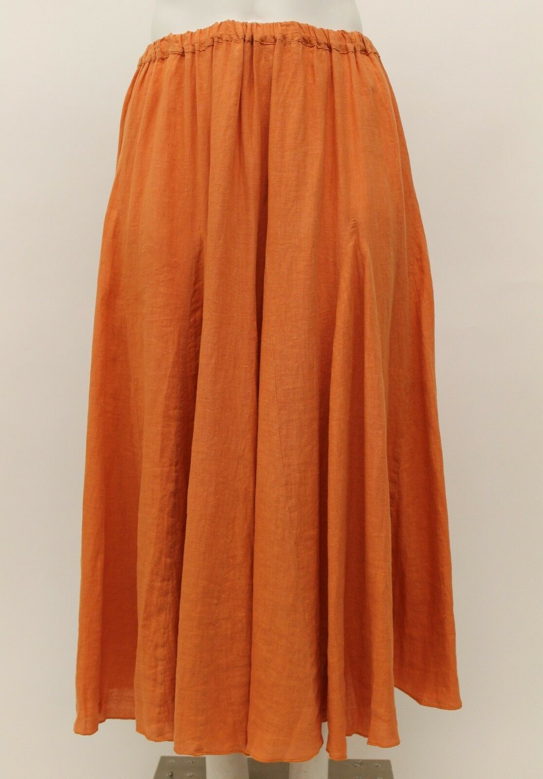HARI CASUALS SPRING SUMMER LINEN SPLAYING FLARE LONG SKIRT MELON PLUS SIZE XXL