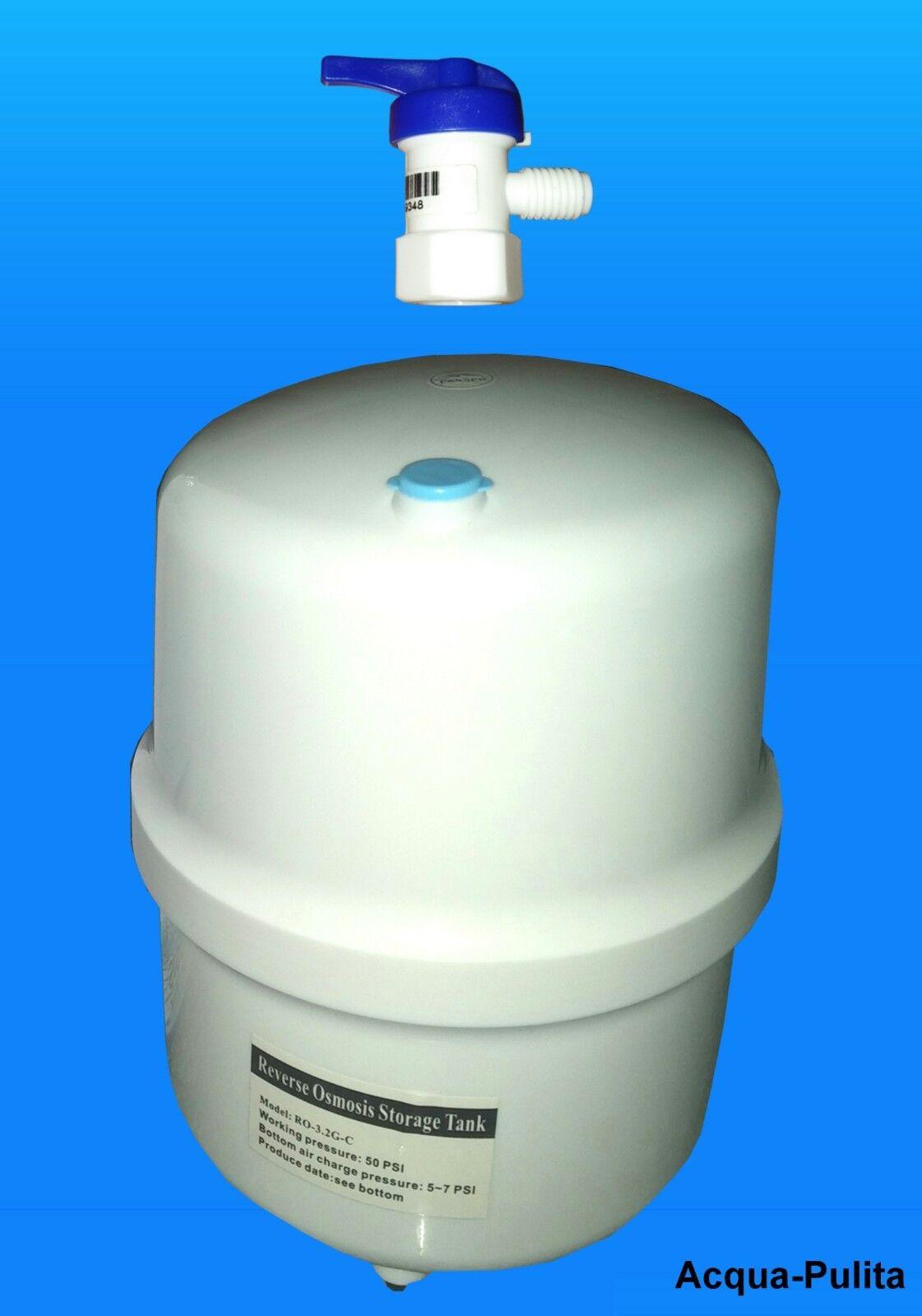 Serbatoio o Tanica di Accumulo per Depuratore Osmosi 12 Litri  Rubinetto