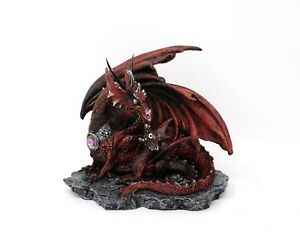 Mother-039-s-Lair-Nemesis-Now-La-tana-della-Madra-Statua-fantasy-Drago-rosso-Draghi