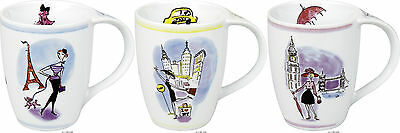 Könitz Becher Tasse Pott Coffee Cup City Mug Icon London Paris New York Watts