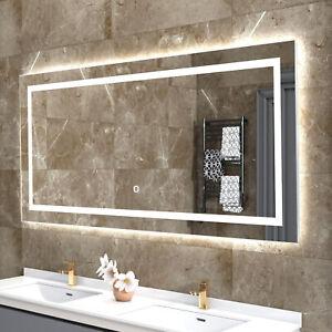 Led Lighted Bathroom Vanity Mirror Wall Mount 3 Brightness Dimmer Hotel Grade Ebay