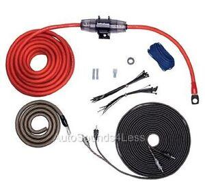 rockford fosgate rfk4i true 4 gauge amplifier wiring kit twisted rh ebay com