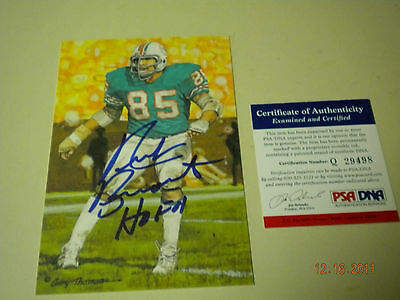 Fan Apparel & Souvenirs Football-other Active Nick Buoniconti Autographed Goal Line Art Card Psa/dna With A Long Standing Reputation