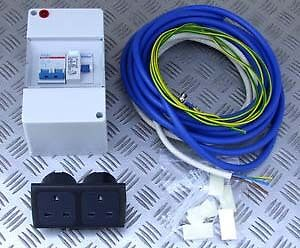 MAINS-INSTALLATION-KIT-16A-230V-CONSUMER-UNIT-CABLE-SOCKETS-BOAT-CAMPER-CARAVAN