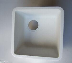 SCHOCK-N75-CRISTALAN-Einbaubecken-Frosted-White-weiss-Pigm-flaechenbuendig-Unterbau
