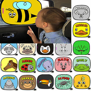 Sunshade Car Sun Shade Mesh Personalised Window Visor blind uv kids ... 68e65953331