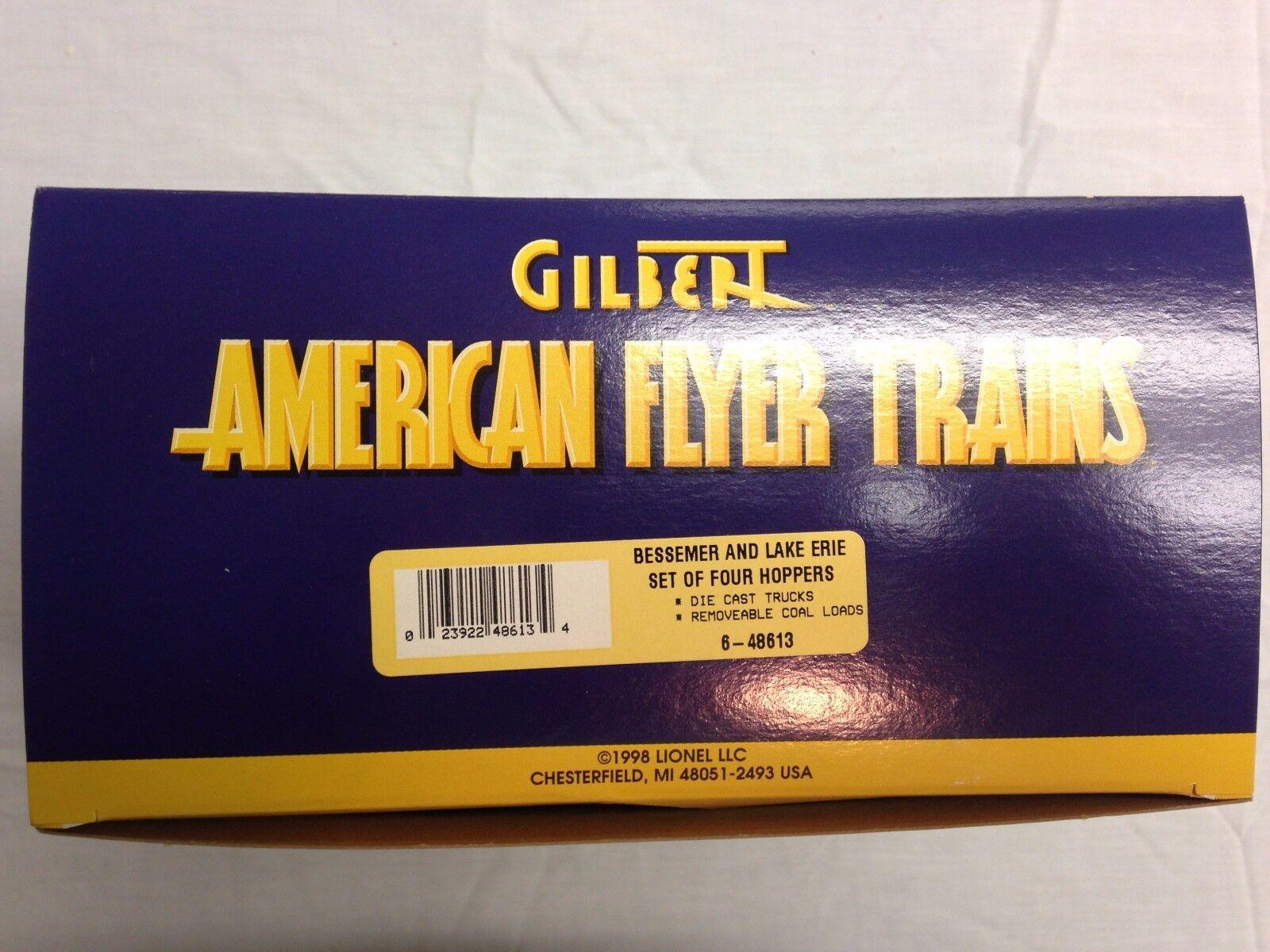 opciones a bajo precio American Flyer Flyer Flyer & Lake Erie Lionel Bessemer Set 4 tolvas con Cochega de Cochebón  hasta un 70% de descuento