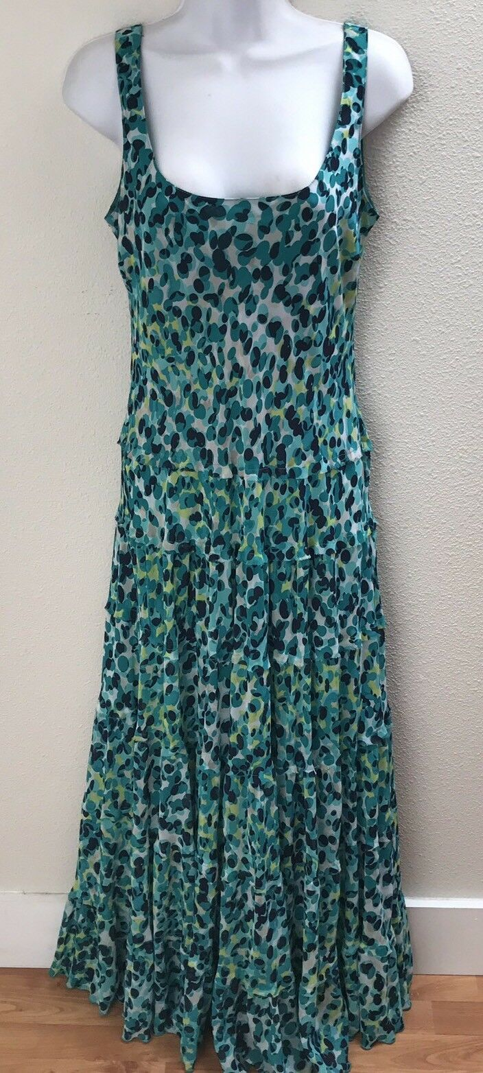 Maxi Dress Large Womens 10 Long Casual Sleeveless Wedding Occasion