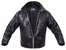 Jack & Jones Leather Jacket Men's lederjacke Black / Brown XL Coat VINTAGE BIKER